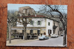 LARGENTIERE (07) - CAFE RESTAURANT DES RECOLLETS - SA TERRASSE, SON BON ACCUEIL - CPSM GRAND FORMAT - Largentiere