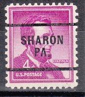 USA Precancel Vorausentwertung Preo, Locals Pennsylvania, Sharon 256 - Vereinigte Staaten