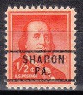 USA Precancel Vorausentwertung Preo, Locals Pennsylvania, Sharon 729 - Vereinigte Staaten