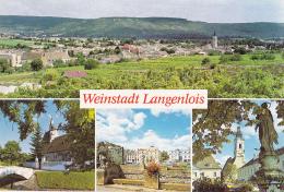 Weinstadt Langenlois - Multivues 4 Vues (Vue Générale, Nikolauskirche, Kornplatz, Pfarrkirche) Circ 1990 - Langenlois