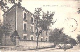 FR11 CARCASSONNE  - 50 - école Normale - Animée - Carcassonne