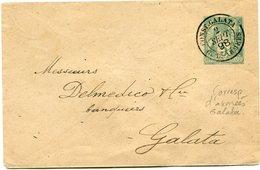 FRANCE ENTIER POSTAL (TYPE SAGE) DEPART CONST. GALATA 2 SEPT 98 C. D'ARMEES POUR GALATA - Postal Stamped Stationery
