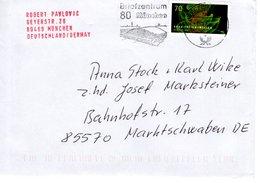Brief Von Briefzenturm 80 Mit 70 Cent Gravitationswellen 2018 - BRD