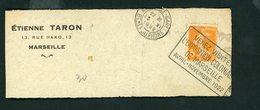 """FLAMME """" VENEZ VISITER L'EXPOSITION COLONIALE DE MARSEILLE AVRIL-NOVEMBRE 1922 """"  DE MARSEILLE GARE DU 13/11/19 - Marcofilia (sobres)"""