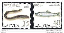 LATVIA 2005 Fish Set Of 2  MNH / **.  Michel 639-40 - Latvia