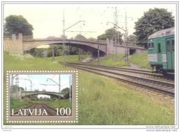 LATVIA 2005 Altonavas Bridge Block  MNH / **.  Michel Block 20 - Latvia