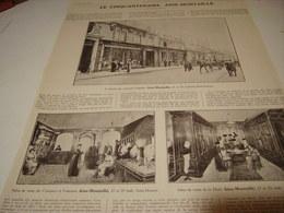 ANCIENNE PUBLICITE LES CINQUANTAINES AINE-MONTAILLE 1913 - Habits & Linge D'époque