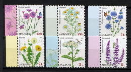 MOLDAVIE 2016, FLEURS DES CHAMPS, 6 Valeurs, Neufs / Mint. RmolFDCind - Moldavie