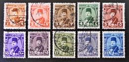 ROYAUME - EFFIGIE DU ROI FAROUK 1944/46 - OBLITERES - YT 223/32 - MI 268/77 - Egypt