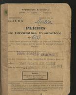 Permis De Circulation Frontaliere Zonne Frontaliere Suisse - Other