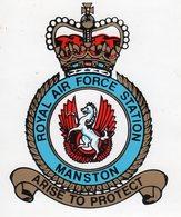 ROYAL AIR FORCE - BASE AERIENNE DE MANSTON-écusson Autocollant - Aviation