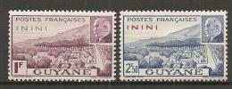 ININI - Yv. N°  51 **52 *     Pétain  Cote  1,7 Euro  BE 2 Sca,s - Inini (1932-1947)
