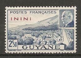 ININI - Yv. N°  52  (*)  2f50   Pétain  Cote  0,8 Euro  BE 2 Scans - Inini (1932-1947)