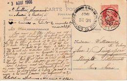 """ZK (Gent-Ch. De Courtrai) """"GAND 31 Octo 07"""" En AMBULANT BAHNPOST """"PENANG TO SINGAPOUR  NO 22 1907"""" (Straits Settlements) - Autres - Asie"""