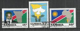 NAMIBIA 1990 - INDEPENDENCE - CPL. SET - OBLITERE USED GESTEMPELT USADO - FIRST NAMIBIAN STAMPS - Namibie (1990- ...)