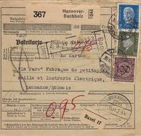 Paketkarte, Bulletin D'expédition Hannover-Buchholz, Hamburg, 1931 - Lettres & Documents
