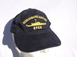 PATROUILLEUR EPEE - GENDARMERIE MARITIME  - ANCIENNE CASQUETTE - Police