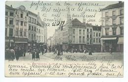 Bruxelles Place Saint Jean Et Rue De La Violette ( 1900 Couleur ) - Bruxelles (Città)