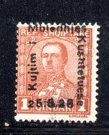 118 - 490 - ALBANIA 1928 , Soprastampati  Yvert N. 190  * - Albania