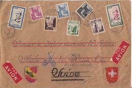 Lettre Confectionnée, Décorée Mains, Ankunftstempel 21.9.56 Köniz - Marocco (1956-...)
