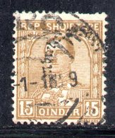 125 - 490 - ALBANIA 1928 , Soprastampati Serie Yvert N. 211  Usato - Albania