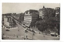 19788 - Lausanne Place De La Gare Et Avenue Ruchonnet Trolley - VD Vaud