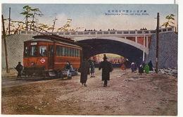 Kobé Minatogawa Tram, Car Way , Tramway Colored  Edit Sakaeya - Kobe