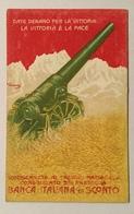 PRESTITO NAZIONALE BANCA ITALIANA DI SCONTO  FIRMATA   - NV FP - Guerre 1914-18