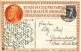 Bundesfeierkarte 1.8.1918, Karte Nr 2 - Entiers Postaux