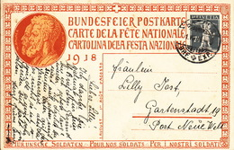 Bundesfeierkarte 1.8.1918, Karte Nr 2 - Stamped Stationery