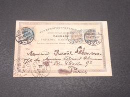 DANEMARK - Affranchissement De Copenhague Sur Carte Postale Pour La France En 1902 - L 17143 - Lettere