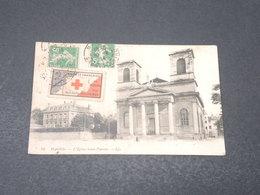 FRANCE - Vignette Croix Rouge Sur Carte Postale De Macon En 1914 Pour Dijon - L 17145 - Commemorative Labels