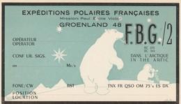 CARTE DECOREE AVEC UN OURS EXPEDITIONS POLAIRES FRANCAISES/MISSION PAUL EMILE VICTOR/GROENLAND 1948 SUPERBE - Franse Zuidelijke En Antarctische Gebieden (TAAF)