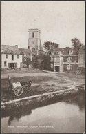 Wareham Church From Bridge, Dorset, C.1910 - Photochrom Sepiatone Postcard - England