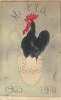 Illustration - Chanteclet 1903 1910 - Coq Oeuf - Pájaros