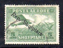 147 - 490 - ALBANIA 1927 , Posta Aerea  Yvert N. 8  Usato - Albania