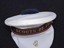 RARE ANCIEN BACHI SCOUTS De  FRANCE + INSIGNE  --  Daté 1991 + 2 COIFFES BLANCHES - Scoutisme