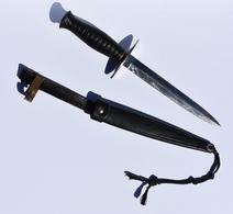 Poignard Dague Béret Rouge Couteau Combat Parachutiste TAP Armée Française - Armes Blanches