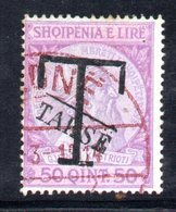 157 - 490 - ALBANIA 1914 , Segnatasse  Yvert N. 5  Usato - Albania
