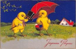Illustration - Joyeuses Pâques - Poussins Humanisés - Uccelli
