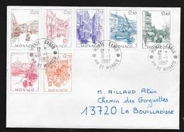 Monaco Lettre Circulée Au Tarif (2F20) De Monte Carlo 31/1/197 à La Boulladisse TB  Affranchissement Multicolore TB .... - Covers & Documents