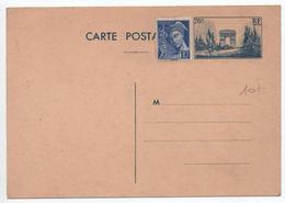 CARTE POSTALE ENTIER GANDON 12F NEUVE ARC DE TRIOMPHE NEUVE - Cartes Postales Types Et TSC (avant 1995)