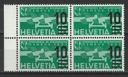 SBK F20a, Mi 286a Viererblock ** - Luftpost