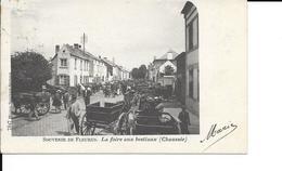 """Fleurus - La Foire Aux Bestiaux  (Chaussée) - """"Souvenir De Fleurus"""" - 7847 Maison Scouvart-Seutens - Circulé - 2 Scans - Fleurus"""