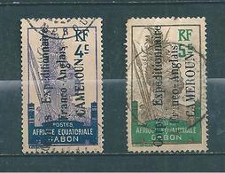Colonie  Timbres Du Cameroun  De 1915 Occupation Militaire  N°40 Et 41 Oblitérés Cote 203€ - Cameroun (1915-1959)