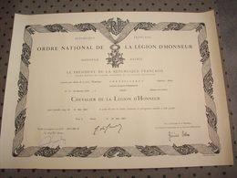Diplôme ( Ordre National De La Légion D'Honneur ) - Diploma & School Reports