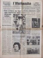 L'Humanité 19 Avril 1966 - Motion De Censure - Ingénieurs - Mini Jupe - Line Et Willy - - 1950 à Nos Jours