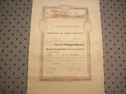 Diplôme 1919 ( 154ème Régiment D'Infanterie - Certificat De Bonne Conduite ) - Diploma & School Reports