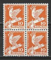 SBK 186, Mi 251 Viererblock ** - Svizzera