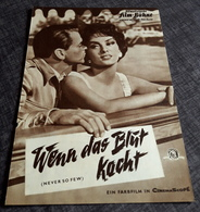 "Altes IFB-Filmprogramm - GINA LOLLOBRIGIDA In ""Wenn Das Blut Kocht (NEVER SO FEW)"" Mit Frank Sinatra ... - 180759 - Riviste"